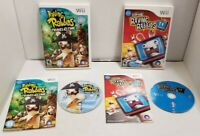 Lot of 2 Nintendo Wii Raving Rabbids Video Games TV Party & Travel in Time VGC