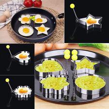 4xAcero Inoxidable Panqueque Molde Cocina Huevo Frito Shaper Utensilio De Cocina