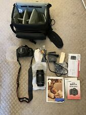 Canon Rebel T3i EOS 600D Digital Camera Kit Bundle 18-55mm 55-250mm Lens + Bag