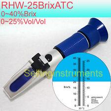 Rhw-25brixatc Refractómetro con alcohol & Brix Escalas Para Uva Cervecera