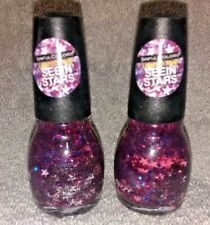 LOT OF 2 SINFUL COLORS PRO NAIL POLISH - STARRY EYED - PATRIOTIC STARS