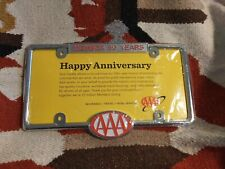 AAA 50 Year member LICENSE PLATE frame Northern California holder. New, sealed