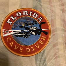 New listing Florida Cave Diver Embroidered Patch Scuba Diving