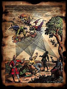 MEDIEVAL DEMON MINSTRELS Art Print Poster gothic archaic Scott Jackson