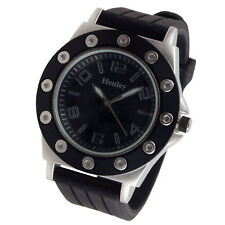 Henley Mens Fashion Analogue Bold Design Edgy Stylish Watch Gift Box