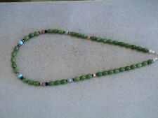 Auth.Native American Indian Green Jade/ Turquoise/ Multi Stone Necklace/Choker