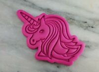 Unicorn Face Cookie Cutter 2-Piece, Outline & Stamp #3 Princess Birthday Girl