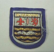 Vintage Blackpool Coat of Arms Shield Woven Felt Badge Patch