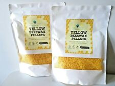 Yellow Organic Beeswax Pellets PACK OF 2 x 480g Grade A-3 x Filtered 100%Natural