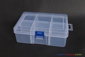 "1PC Storage Box Adjustable Case (6 Grids) For Cardboard Coin Holder Flips 2""x2"""