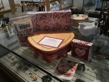 Longaberger 1999 Sweetheart Love Treasures Basket Set Love Letters New 6pc Set