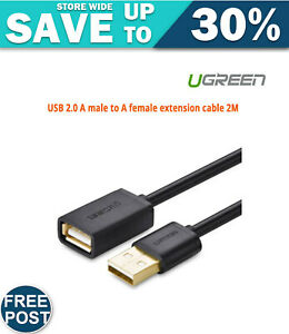 UGREEN USB 2.0 A male to A female extension cable 2M (10316)