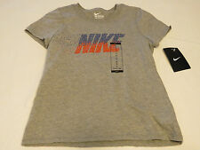 Nike The Nike TEE active t shirt youth girls M 836265 063 grey heather NWT^^
