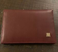 Lanvin mens card wallet in Soft Calf Brown