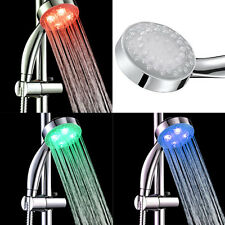 RGB LED Duschkopf Duschbrause Farbwechselt Massage leuchtet 3 Strahlarten DE