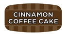 """Cinnamon Chocolate Cake Labels 1000 /RL Food Store Flavor Stickers .625"""" X 1.25"""