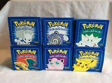 LIMITED EDITION 23K GOLD PLATED POKEMON TRADING CARDS 6 BRAND NEW 1999 NINTENDO