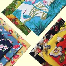 Cotton Linen Fabric Lotus Printed Retro National Cloths DIY Materials By Metre