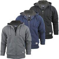 Dissident Hoodie Sweatshirt/ Jumper Jacket 'Toulouse' Sherpa Fleece Lined Mens