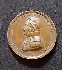 A0310 - Médaille Charles Ferdinand Duc de Berry CAQUE.F 38mm. en cuivre