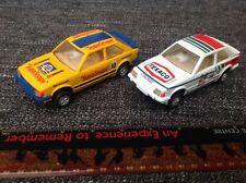 Scalextric Ford Escort XR3I Yellow SupaSnaps & Ford Escort Mk3 Texaco #24 Lot