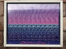 Vintage Magic Eye Framed Print 1990s Nostalgia Dolphin Song Ocean Theme