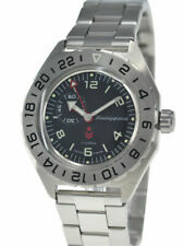 Vostok Komandirskie 650539 Watch Automatic Russian Wrist Watch Black New