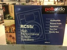 BRAND NEW Polk Audio RC55i 2-Way In-Wall Speakers (Pair, White)   NEW
