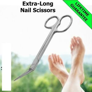 TOE NAIL Scissors EXTRA LONG Handle Pedicure Manicure Chiropody Podiatry Scissor