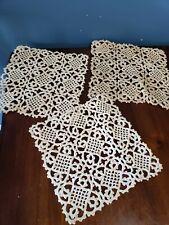 Vintage hand crochet doilies lot