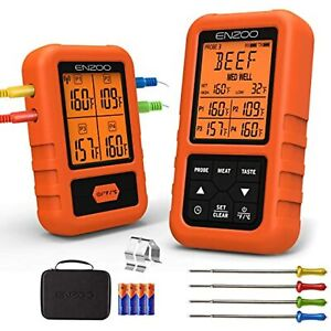 ENZOO Wireless Meat Thermometer for Grilling, Ultra Accurate & Fast Digital Meat