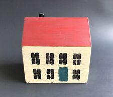 Vintage Painted Wooden Colonial Style House Red Roof