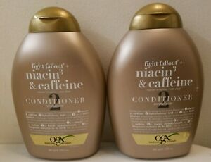 New! 2 OGX Fight Fallout + Niacin 3 & Caffeine Conditioner 13 fl oz each