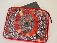 Lucky Brand Peacock Feather Universal iPad/Tablet Sleeve-Case- Cover TOP ZIP NW