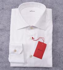 NWT $695 KITON NAPOLI White Spread Collar Dress Shirt 17 x 36 Modern-Fit