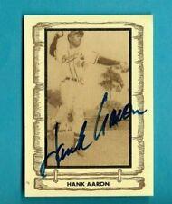 HANK AARON AUTOGRAPH 1980 CRAMER SPORTS AUTO BRAVES HOF + BONUS BEER CARD