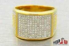 Lab Made SIMULATED DIAMOND Mens Ring .925 Silver Band Hip Hop Size 10