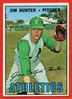 1967 Topps #369 Jim Catfish Hunter VG-VGEX+ WRINKLE Oakland Athletics A's HOF