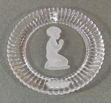 Goebel 1979 Glass Boy Saying Prayers Plate Signed Goebel 1978 Euc