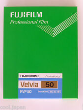 FUJIFILM CUT VELVIA50 NP 4X5 20 Reversal Film Fujichrome Velvia 50 Sheets 20 PC