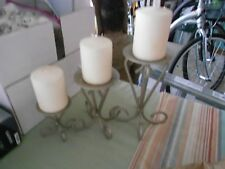 Teired Candleholders, Silver Scrolled Designed, Modern (pre-owned)
