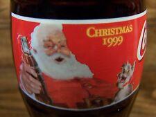 Coca ' Cola 1999 [ Christmas bottle ] SANTA & dog, 1 - 8 Oz Coke Bottle