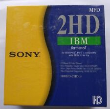 """Sony High Density HDD PC Formatted 3.5"""" Floppy Disks Brand New Sealed 10x Black"""