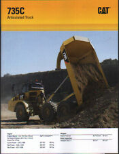 "Caterpillar ""735C"" Articulated Dump Truck Brochure Leaflet"