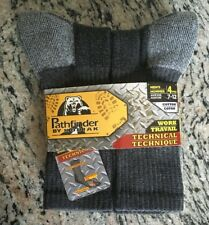 Mens Charcoal Grey Work Socks Size 7-12 (Pathfinder by Kodiac) set of 4