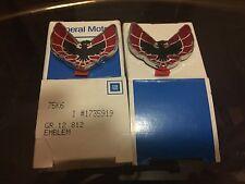 NOS GM PART # 1735919 76-79 FIREBIRD - TRANS AM ROOF EMBLEM (PAIR) *NEW IN BOX*
