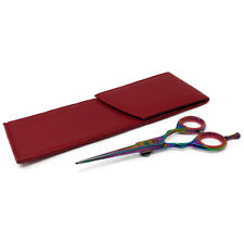 """Bc20106 Titanium Hairdressing Barber Salon Scissors 5.5"""" With Red Pouch"""