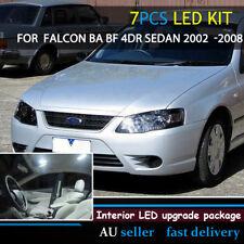 White Upgrade Interior Light Full LED Kit For Falcon BA / BF 4dr SEDAN 2002-08