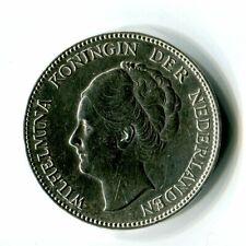 1 Gulden Niederlande 1939 Wilhelmina Silber M_1228