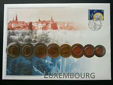 Luxembourg Euro Coin 2002 Building Culture Currency Money FDC (coin cover)